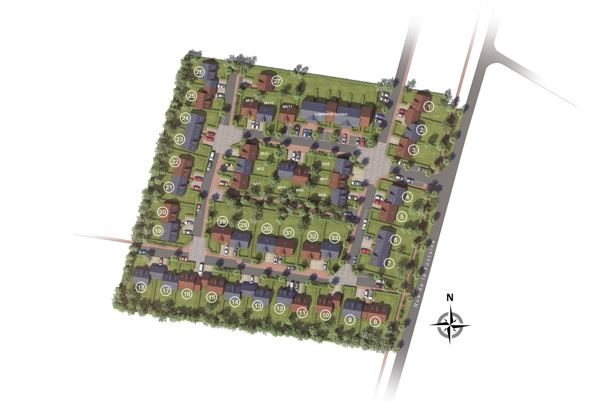 Plan de masse du nouveau quartier de Vaugrigneuse